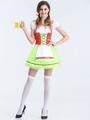 Halloween Sexy Costumes Beer Girl Women's Green Skater Dress Halloween 4292