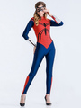 Halloween Costume Spiderman Women's Cosplay Jumpsuit With Armwear 4292