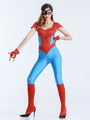 Halloween Costume Spiderman Women's Short Sleeve Cosplay Jumpsuit Outfit In 3-Piece 4292