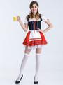 Halloween Costumes Beer Girl Women's Red Skater Dress Halloween 4292