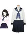 Hyoka Chitanda Eru Halloween Cosplay Costume School Girl Uniform 4292
