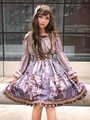 Steampunk Lolita Blouse Cat Long Sleeve Off-the-shoulder Ruffled Silk Hime Sleeve Lolita Top With Bow 4292