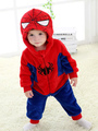 Kigurumi Pajamas Spiderman Onesie Kids Flannel Red Sleepwear Costume 4292