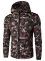 Hooded Camo Jacket Men' S Long Sleeve Casual Zip Up Jacket 4292