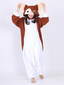 Kigurumi Pajama Gremlins Gizmo Onesie Brown & White Christmas Animal Costume For Adults Halloween 4292