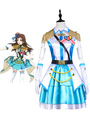 The Idolmaster Cinderella Girls Shibuya Rin Cosplay Costume Blue Stage Uniform 4292