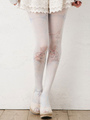 Sweet Lolita Socks Light Pink Rabbit Printed Lolita Stockings 4292