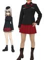 GIRLS Und PANZER Nishizumi Maho Cosplay Costume Kuromorimine Girls High School Uniform 4292