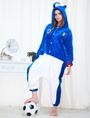 Kigurumi Pajamas World Cup Italy Onesie Blue Football Theme Sleepwear Costume For Adults 4292