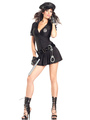 Halloween Sexy Cop Costume Black Mini Dress With Hat Police Women Costume Halloween 4292