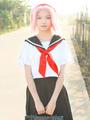 Naruto Haruno Sakura Cosplay Costume School Girl Uniform 4292