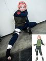 Naruto Haruno Sakura Chunin Cosplay Costume School Girl Uniform 4292