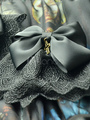 Gothic Lolita Oversleeve Lace Trim Criss Cross Decor Bow Lolita Accessories 4292