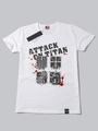 Attack On Titan Shingeki No Kyojin White Short Sleeve Cotton T-shirt Halloween 4292