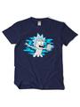 Rick And Morty Free Rick Cartoon Black Cotton Short Sleeve T-shirt Halloween 4292
