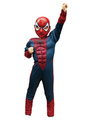 Kids' Halloween Costume Boys Ink Blue Spiderman Roman Knit Cosplay Jumpsuit With Mask Halloween 4292