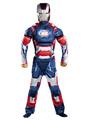 Halloween Kids's Costume Boys Blue Iron Man Cosplay Roman Knit Jumpsuit With Mask Halloween 4292