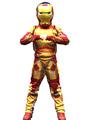 Halloween Kids's Costume Boys Gold Iron Man Cosplay Roman Knit Jumpsuit With Mask Halloween 4292