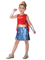 Kids' Halloween Costume Girls Royal Blue Superman Cosplay Costume Set In 4 Pieces 4292