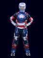 Halloween Kids's Costume Boys Blue Captain America Cosplay Color Block Roman Knit Jumpsuit With Mask Halloween 4292