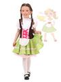 Halloween Oktoberfest Costume Neon Green Girls Color Block Mini Dress Halloween 4292