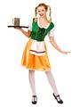 Halloween Beer Girl Orange Oktoberfest Women's Color Block Dress Halloween 4292