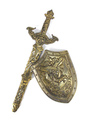 Boys' Halloween Weapon The 300 Cosplay Bronze Resin Shield And Sword Costume Accessories 4292