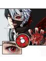 Anime Red Tokyo Ghoul Kaneki Ken Halloween Horror Cosplay Contact Lenses 4292