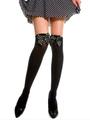 Saloon Girl Socks Knee High Black Bows Halloween Accessories For Women 4292