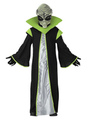 Alien Costume Kids Halloween Unisex Black Gown With Hood And Accessories 4292