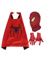 Spider Man Halloween Costume Kids Red Cloak With Hood And Gloves For Boys 4292