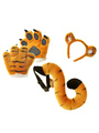 Halloween Tiger Costume Accessories Kids Brown Flannel Animal Paws Tail Set 4292