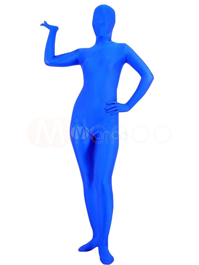 Halloween Blue Spandex Full Body Zentai Suits