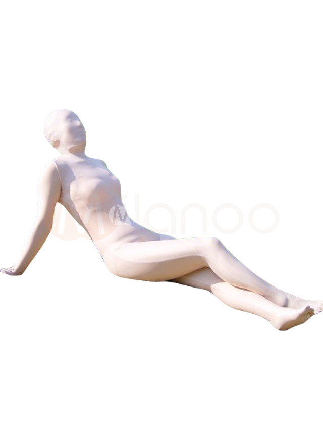 Skincolor Cotton Lycra Unisex Zentai Suit
