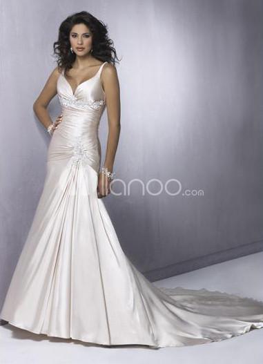 Mermaid Trumpet Sweetheart Satin Wedding Dress