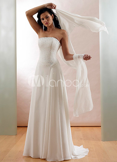 Paillette Satin Wedding Dress
