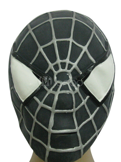 Latex Halloween Cool Black Spiderman Full Mask