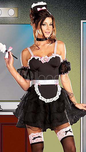 Sexy Black Maid Costume