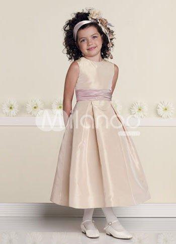 Артикул: L188 Материал: Тафта Вес: 2KG.  Детские свадебные платья L188
