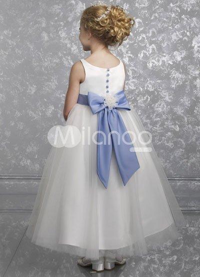 Sleeveless-Sash-Satin-Tulle-Flower-Girl-Dress-14925-2