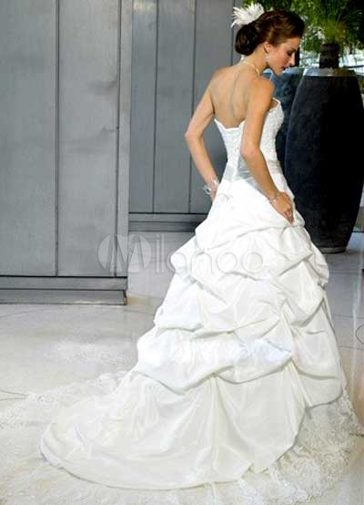 Ball Gown Sash Strapless Lace