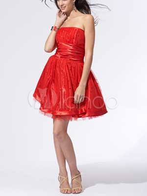 ...империи талии атласная органзы Коктейль Homecoming платье.