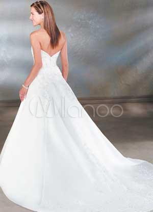 ...бретелек Длина пола Бисероплетение Вышивка атласная свадебное платье.