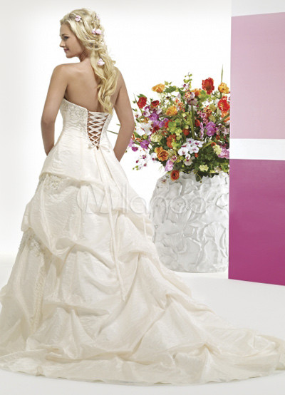 simple ball gown strapless sweetheart beading taffeta