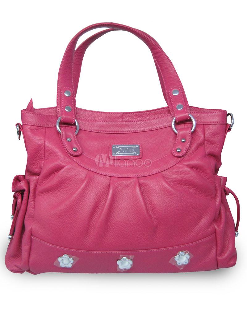 38*12*25cm Classic Cowhide Leather Satchel Handbag