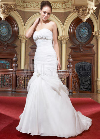 12299 Euro Style Mermaid Trumpet Sweetheart Strapless Empire Waist