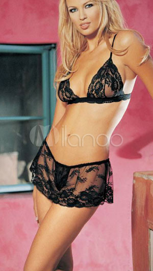 Embroidery Sheer Intimate Lingerie Bra And Panty Set