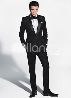 Black Two Piece Groom Wedding Tuxedo