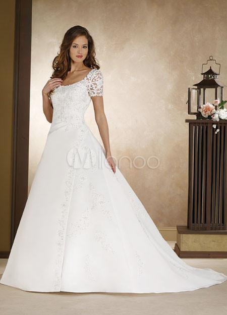 vestido de novia manga corta