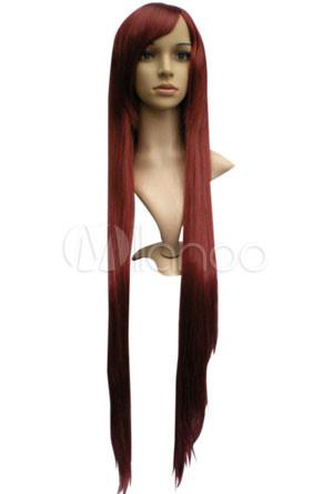 100cm Long Fashion Wig For Women With Diagonal Fringe